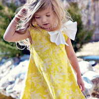 Elegant Spring Bubble Dress in Yellow by simplicitycouture on Etsy