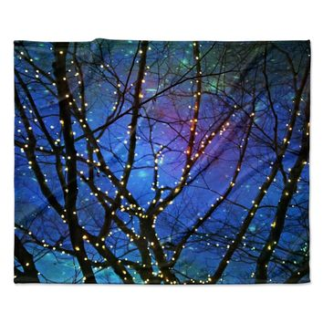 "Sylvia Cook ""Holiday Lights"" Christmas Fleece Throw Blanket"