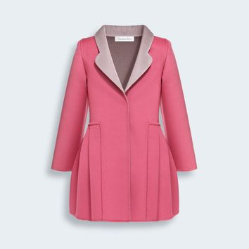 BABY DIOR DOUBLE-SIDED CASHMERE COAT