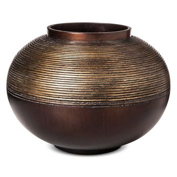 Mudhut™ Bronze Pot with Gold Texture