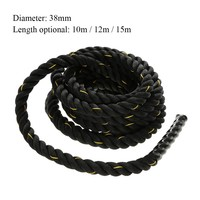 TOMSHOO Battle Rope Workout Training Undulation Rope Exercise Fitness Ropes 38mm Diameter 10m / 12m / 15m Length