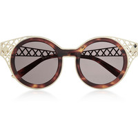 House of Holland - Frame Ache round-frame metal-trimmed sunglasses
