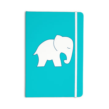 "NL Designs ""Cute Blue White Elephant"" Animals Blue Everything Notebook"