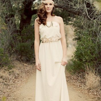 Strapless Bohemian Wedding Dress - The Lucy in the Sky Gown - Made to Order