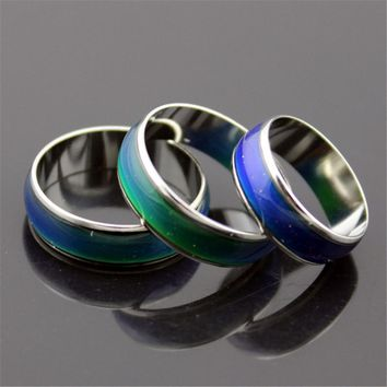 TOMTOSH Creative Color Changeable Ring Temperature Emotion Feeling Mood Rings for Women Men Jewelry Best Gifts Fashion Jewelry