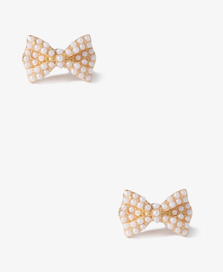 Pearlescent Bow Earrings