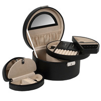 South Molton Round Jewelry Box with Travel Case