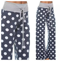 Polka Dot Lounge Pants Navy (Preorder)