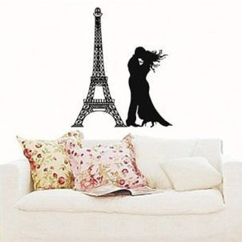 Wall Sticker Mural Vinyl Eiffel Tower Paris in Love S5098