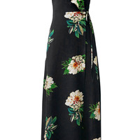 Cupshe Blaze of Flowers Off Shoulder Dress
