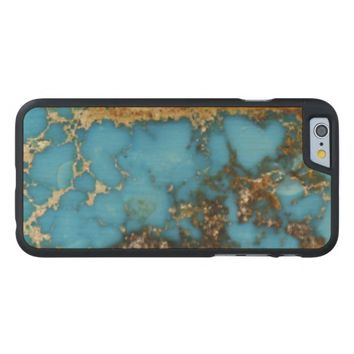 Natural Turquoise Stone Carved® Maple iPhone 6 Case