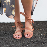 Simply Wrapped Sandals Mocha