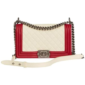 Chanel Quilted Lambskin Medium Le Boy