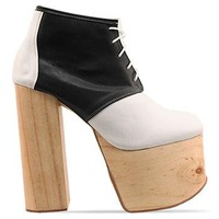 Deandri Ginger Platforms in White Black at Solestruck.com