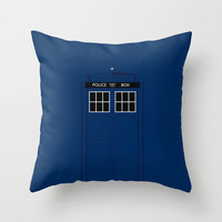 Doctor Who - The Doctor is in..... Throw Pillow by Adam James