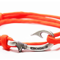 Orange Fish Hook Bracelet (New)
