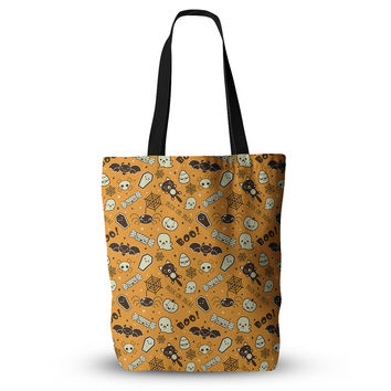 "KESS Original ""All Cute Halloween"" Orange Pattern Everything Tote Bag"