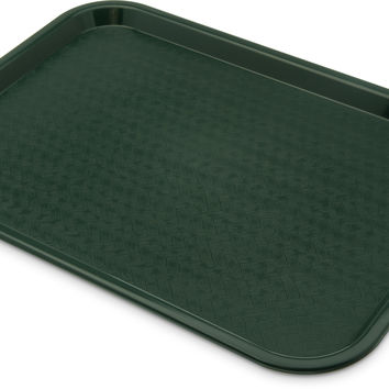 "Carlisle CT121608 12"" x 16"" Forest Green Fast Food Tray"