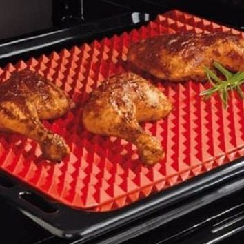 TV Direct Original Healthy Chef Raised Baking Sheet Silicone Roasting Mat 39*27*1cm