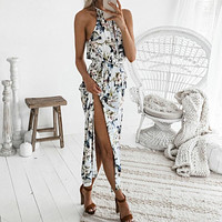 Womens Summer Dress Print Boho Long Maxi Evening Party Beach Floral Dress Fashion summer women beach dresses robe femme 2019