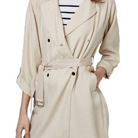 Topshop Textured Double Breasted Coat | Nordstrom