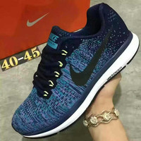 """NIKE"" Sports Knitted jumper wire AIR ZOOM PEGASUS shoes fashion shoes Blue"