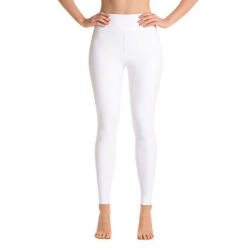 Solid White Yoga Leggings