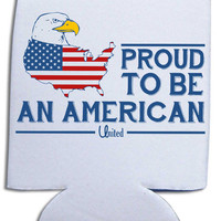 'Proud to Be American' Koozie