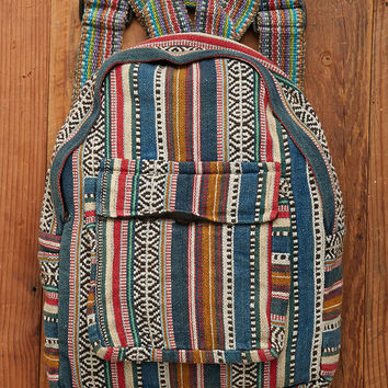 Windhorse Stonewashed Tribal Pattern Backpack