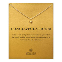 congratulations starburst necklace, gold dipped - Dogeared