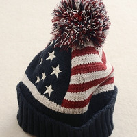 Cheap usa american flag Beanie hat wool winter warm knitted caps (one size) = 1946155332