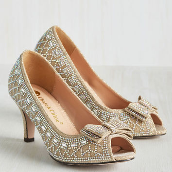 All That Dazzle Heel in Champagne | Mod Retro Vintage Heels | ModCloth.com