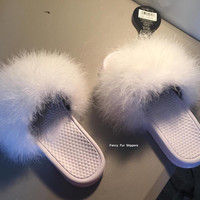 Nike fur slides Snow White