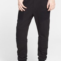 Men's Pierre Balmain Moto Sweatpants,