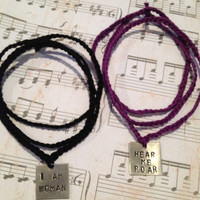 SALE - I am Woman Hear Me Roar - bracelets/necklaces