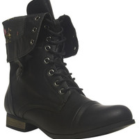 Floral Foldover Combat Boots | Wet Seal