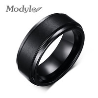 Fashion Black Engagement Rings for Men  Wide Textured Men Rings
