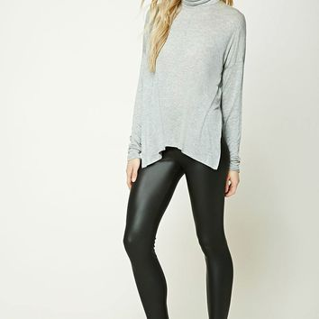 Vented Turtleneck Top