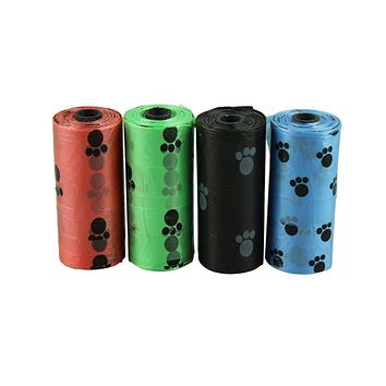 lovely pet 10Roll=150PCS Degradable Pet Dog Waste Poop Bag With Printing Doggy Bag hot selling sep923