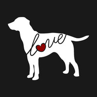 Labrador Retriever Love Window Vinyl Car Decal / Sticker for Dog Lovers - Can Be Personalized & Ships Free