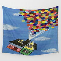 Up Wall Tapestry by Sierra Christy Art