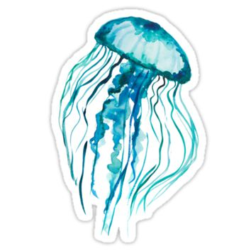 'Watercolor Jellyfish' Sticker by Ilze Lucero