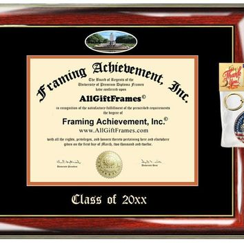 AllGiftFrames Custom Diploma Frame Embossed College University of Texas Austin Best Graduation Degree Frame Double UTA Campus Fisheye Picture Frame Cheap Graduate Gift