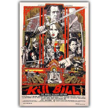 Movie Poster Quentin Tarantino Kill Bill Print on Silk Home Decoration  DY504