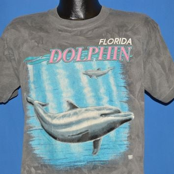 80s Florida Dolphin Stone Wash Tourist t-shirt Large
