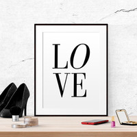Printable art Love quote printable Love Ilustration Simple black and white quote print Master bedroom wall decor printable Typography print