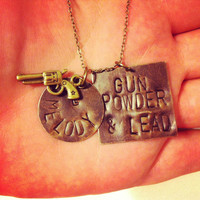 gun powder and lead hand stamped miranda lambert song