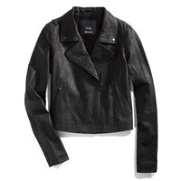Veda x Madewell Black Leather Moto Jacket - jackets - Women's JACKETS & OUTERWEAR - Madewell