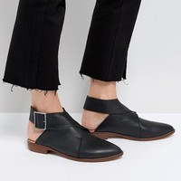 Free People Leather Wrap Ankle Boots at asos.com