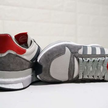 HCXX A282 Adidas Zoom ZX500 RM Boost Comfortable Running Shoes Grey Red